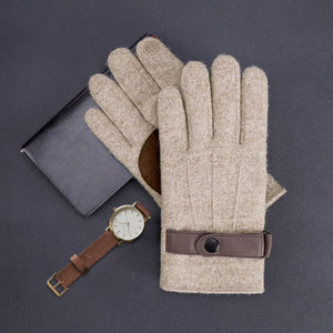 Winter Wool Touchscreen Gloves With Polar Fleece--Less+mORE