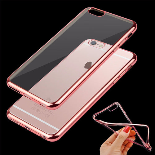 Ultra Thin Clear Rubber Case For iPhone - Less+mORE