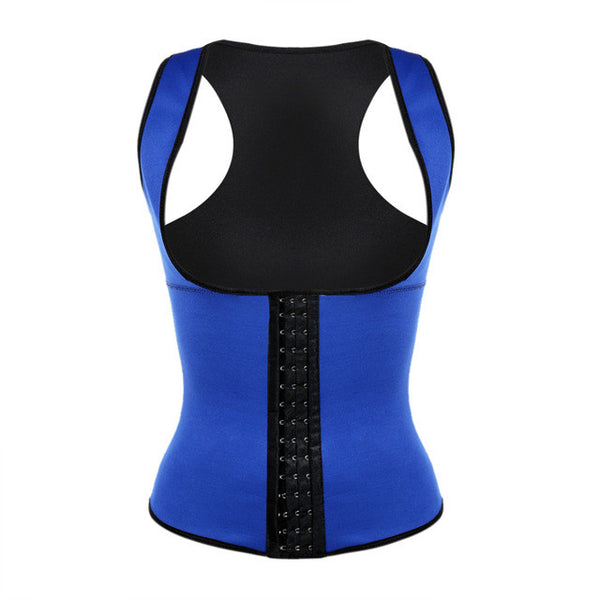 Workout Latex Waist Trainer Vest Back Supporter