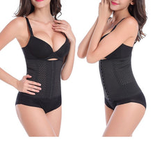 Load image into Gallery viewer, Shapewear Waist Corset 3 Hooks-Black Color - Less+mORE