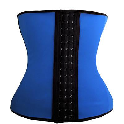 Kardashian's Favorite Shaped Latex Waist Trainer - Blue - Less+mORE