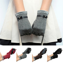Load image into Gallery viewer, Classic Cute Cashmere Women Screen Texting Wrist Gloves- Brown - Less+mORE
