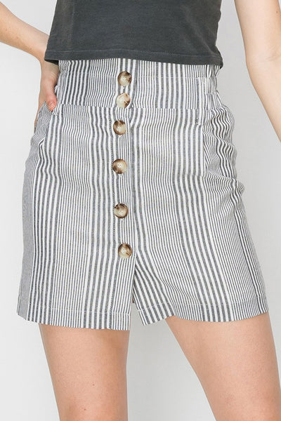 Button Front Mini Skirt - Wildflowers Boutique