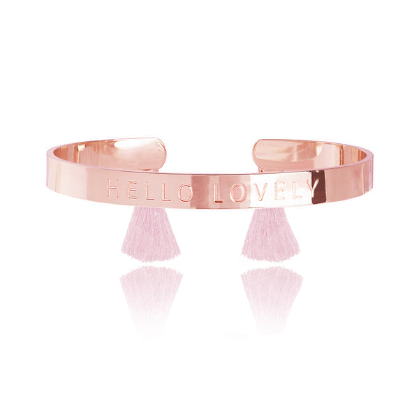 "Katie Loxton Luxe Bangle ""Hello Lovely"" - Wildflowers Boutique"