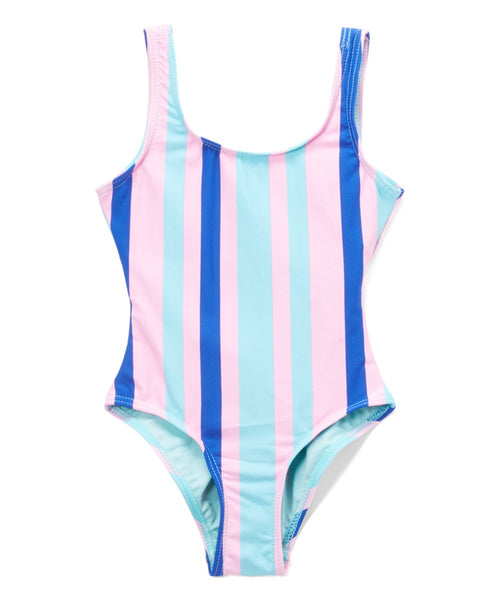 Cotton Candy Kids Stripe Swimsuit - Wildflowers Boutique