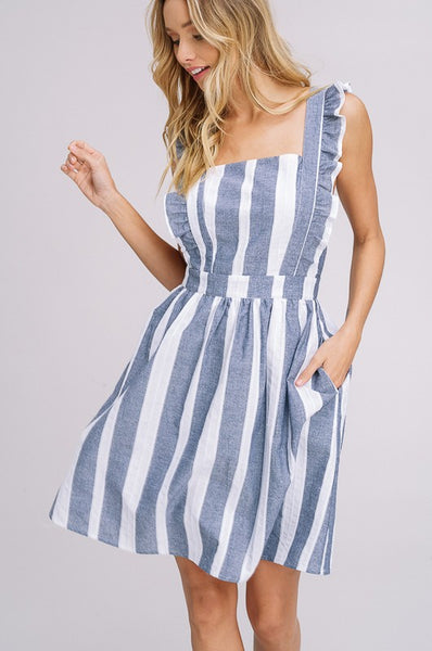 Say It Isn't So Striped Dress - Wildflowers Boutique