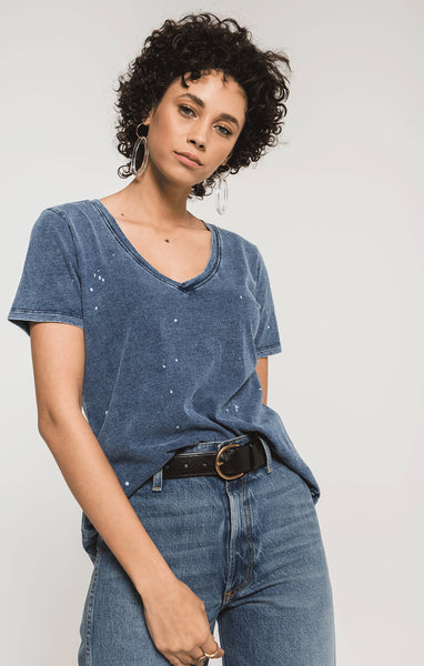 Z Supply Jersey Denim V-Neck - Wildflowers Boutique