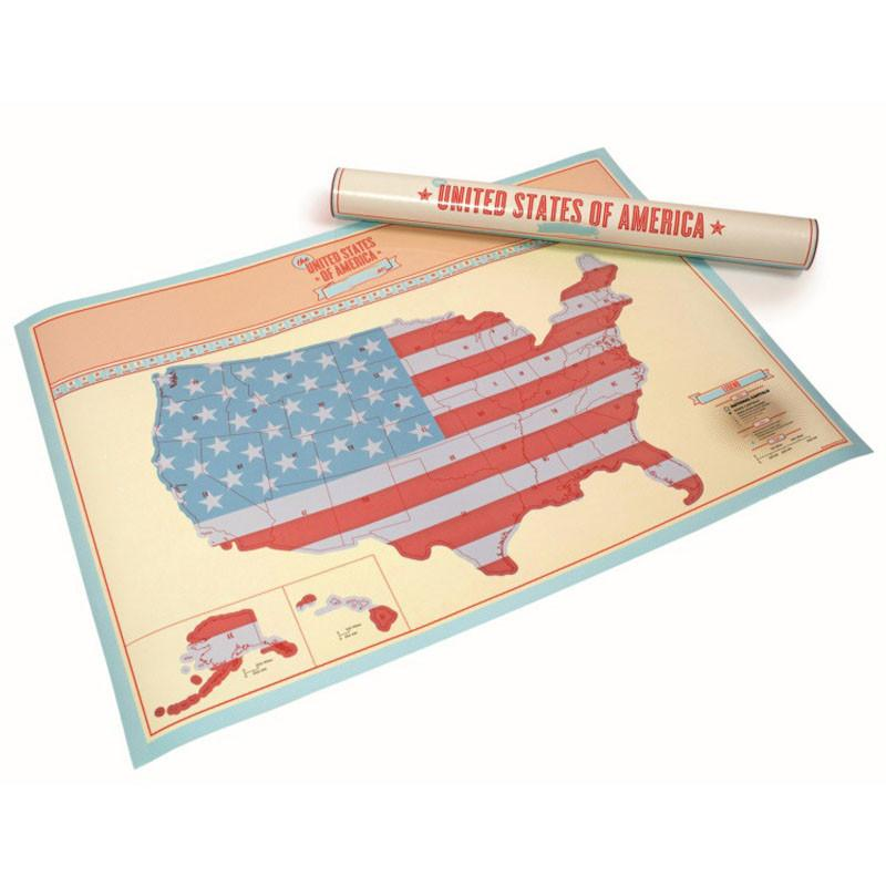 USA Scratch Off Map FREE SHIPPING And GIFT TUBE Explore And Snap - Free paper us map