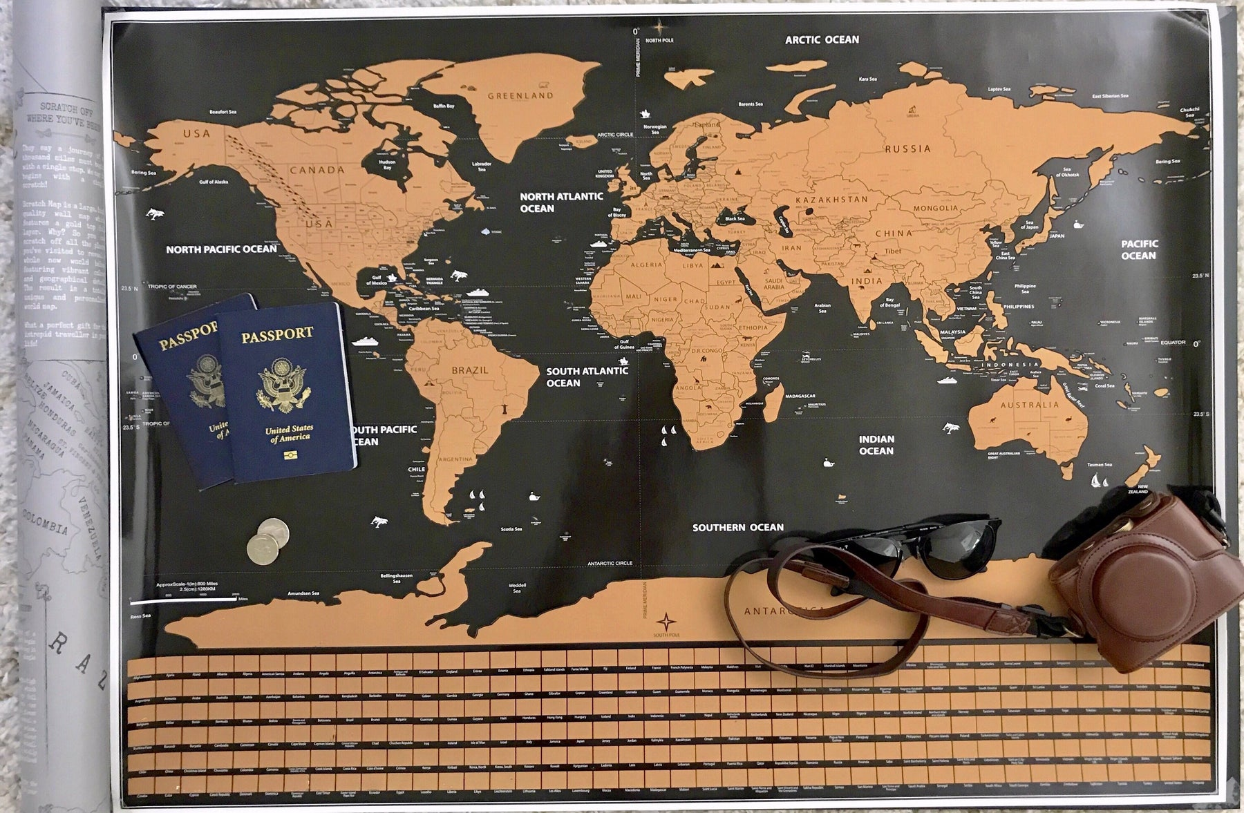 Scratch Off World Map Poster.Deluxe Scratch Off World Map Includes States Provinces Explore And