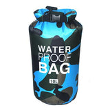 10 liter blue camouflage waterproof outdoor dry bag backpack