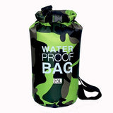 20 liter green camouflage waterproof outdoor dry bag backpack