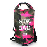 20 liter pink camouflage waterproof outdoor dry bag backpack
