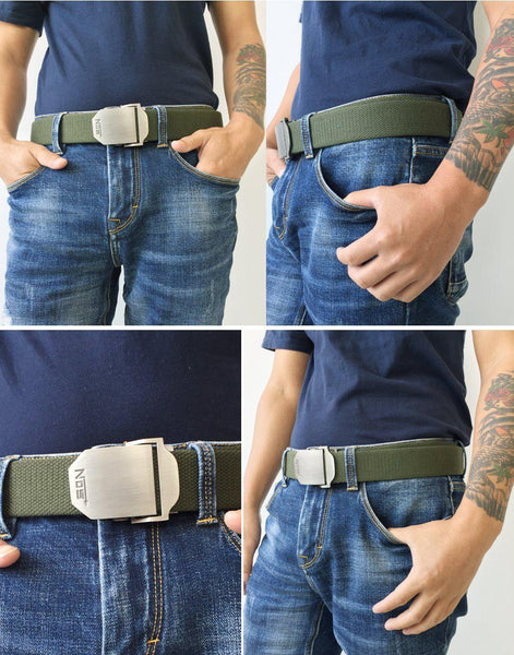 Top quality Elastic Canvas belts with automatic buckle