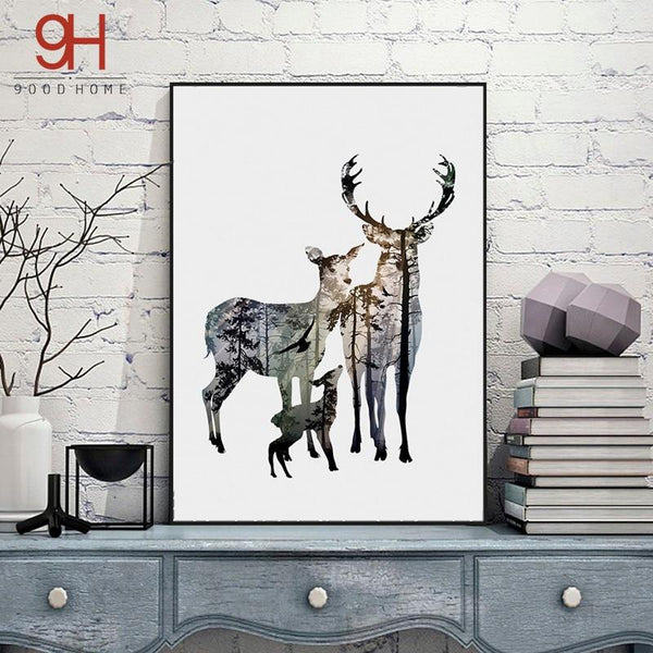 Deer On The Wall Decoration
