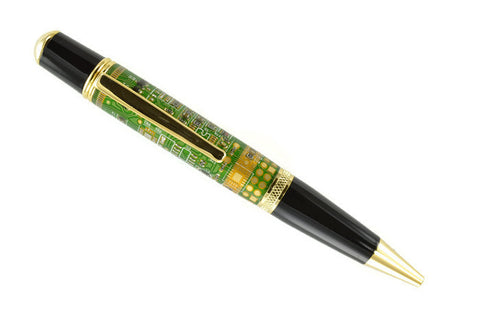 Opus Mechan Technica Collection Green Circuit Board Ballpoint Pen