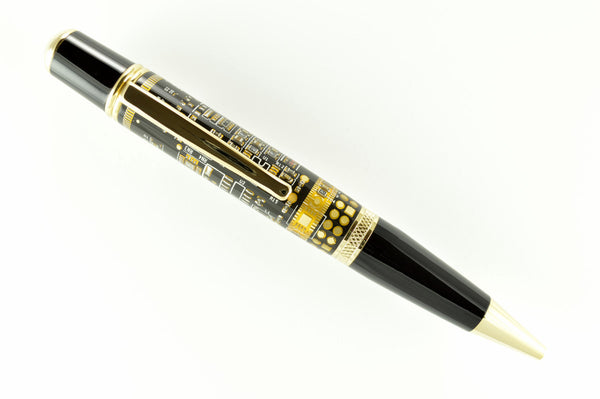 Opus Mechan Technica Collection Black Circuit Board Ballpoint Pen