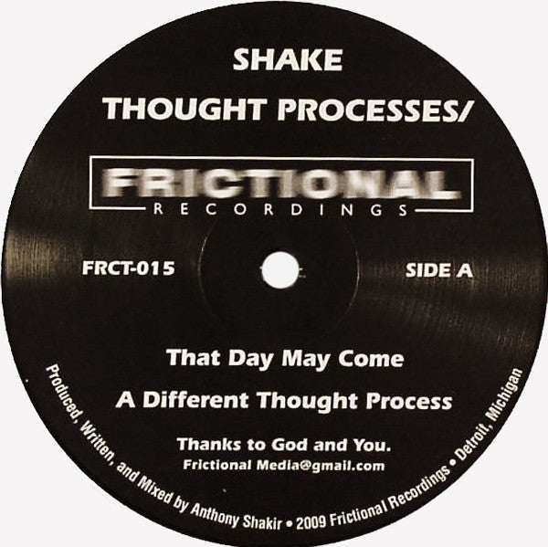Anthony Shake Shakir ‎– Thought Processes