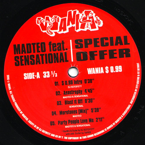 Madteo Feat. Sensational ‎– Special Offer