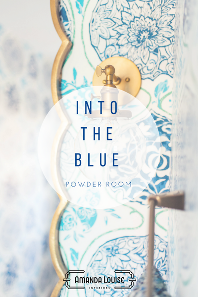Into the Blue Powder Room