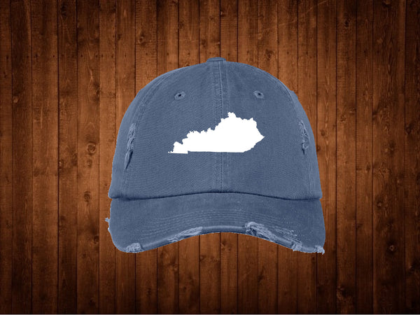 Kentucky Distressed Blue Hat