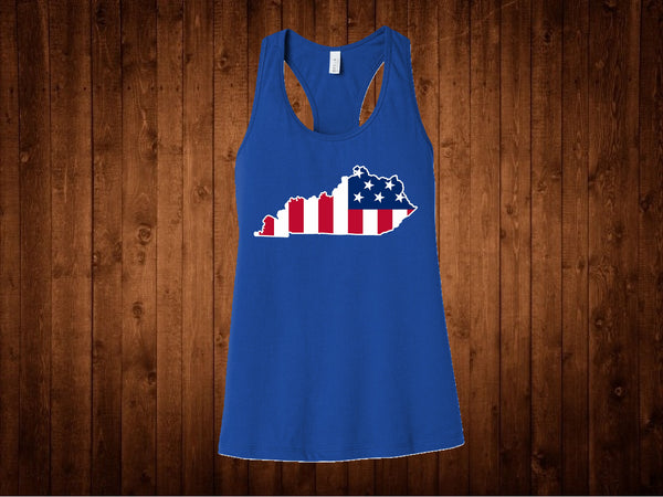 Tank Top - Kentucky American Flag
