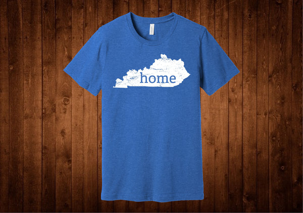 Blue White Kentucky Home Tee