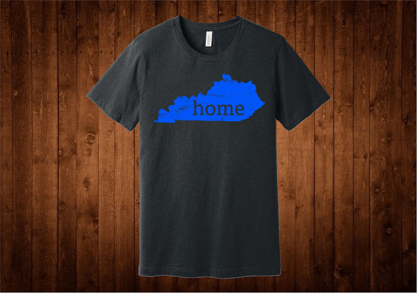 Kentucky Blue Grey Home Tee