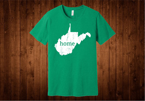 WV Green White Home Tee