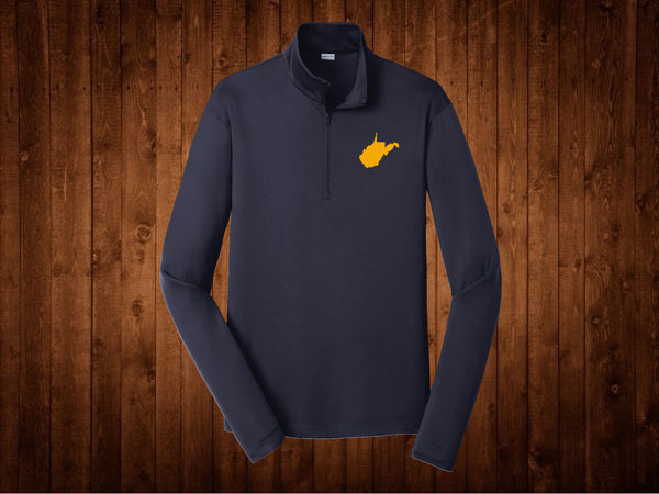 1/4 Zip WV Navy Gold