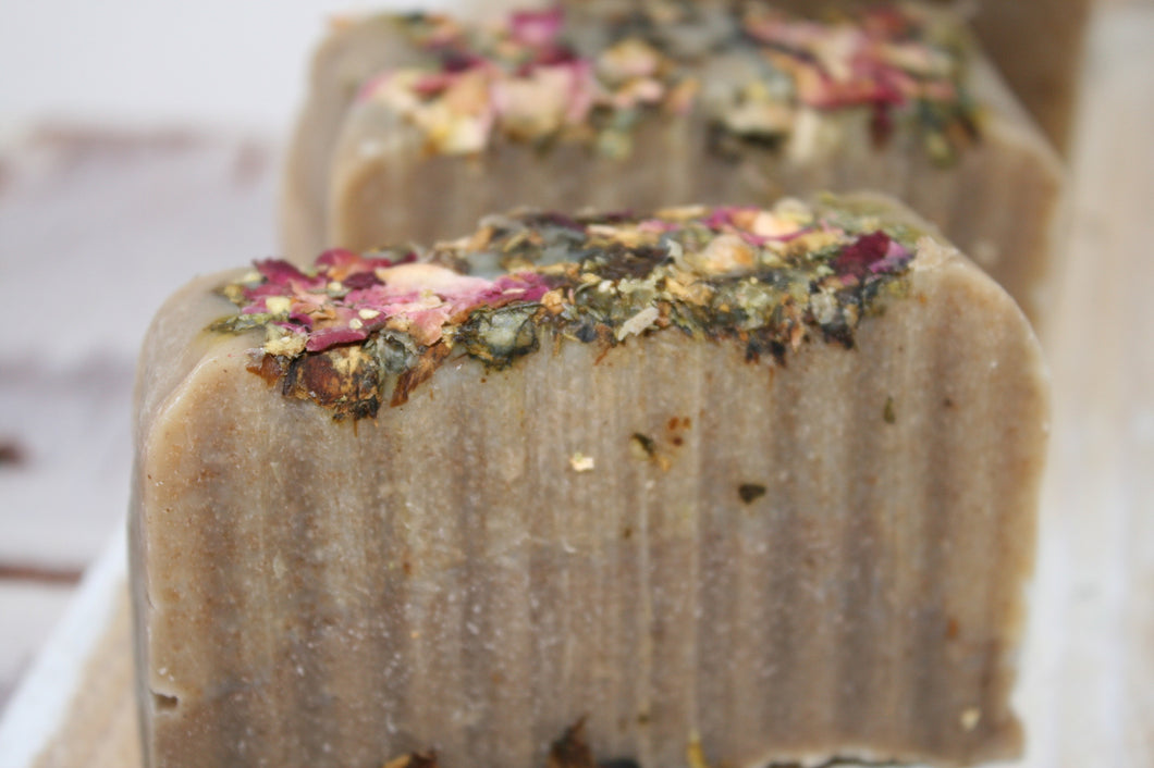Rose Water & Red Moroccan Clay Soap