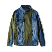 "Club Giv ""Luka"" Splice Denim Moto Jacket"
