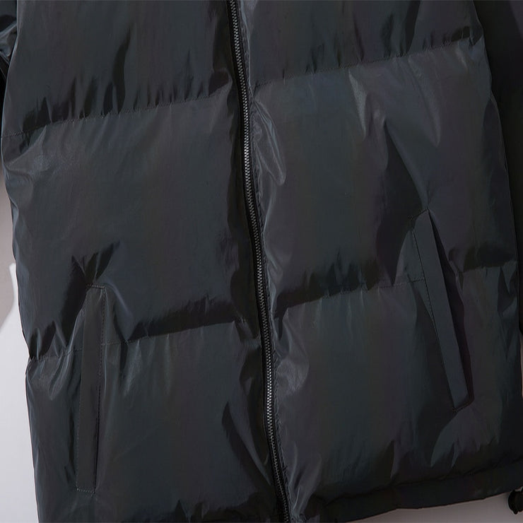 "Club Giv ""Aurora"" Reflective Reversible Puffer Winter Jacket"