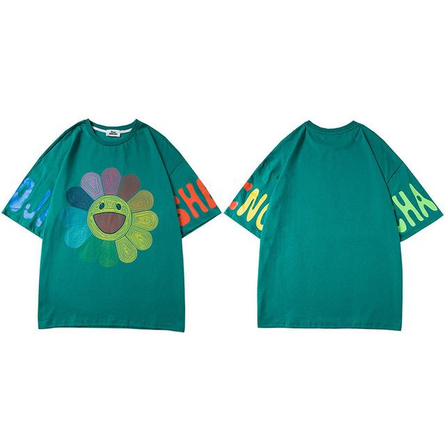 "Club Giv ""Rainbow Flower"" Tee - Multiple Colors"