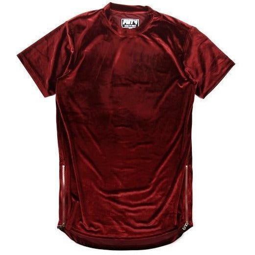 "Club Giv ""Luxe"" Velour Zip Tee"
