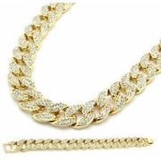 "Club Giv ""Arctic"" 14k Chain and Bracelet Bundle Set"