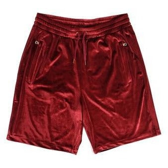 "Club Giv ""Luxe"" Velour Zip Shorts"