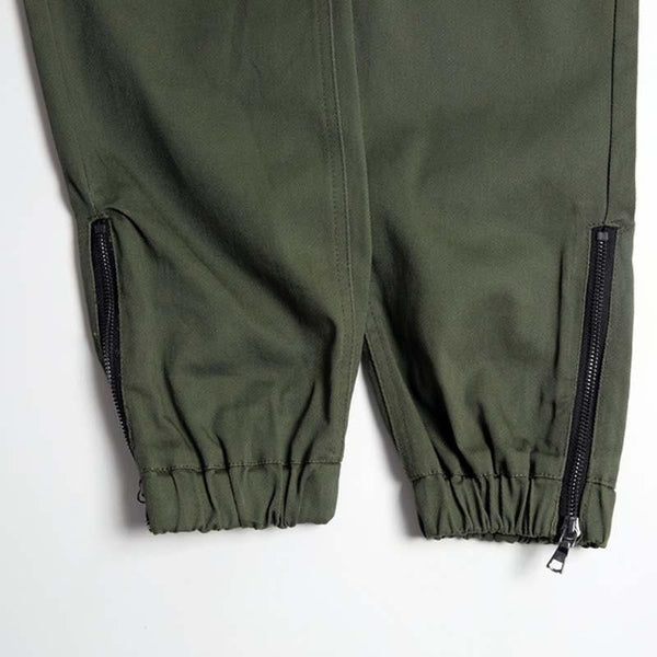 Club Giv Exclusive Zippered Joggers - Navy, Olive