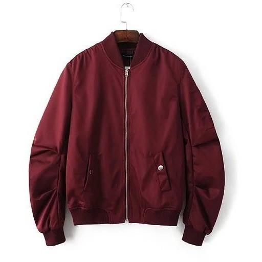Club Giv Zippered MA-1 Bomber Jacket