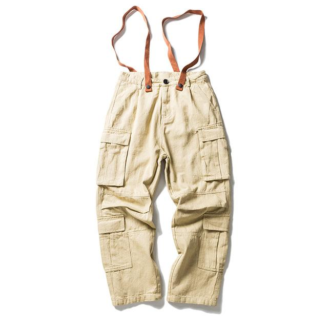 Club Giv Cargo Utility Overall Pants - Multiple Colors