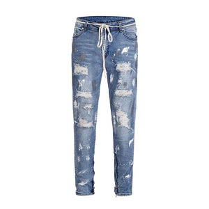 "Club Giv ""Vincenzo"" Painted Destroyer Jeans"