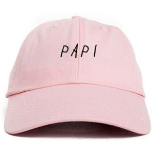 """PAPI"" UNSTRUCTURED BASEBALL DAD HAT - PINK"