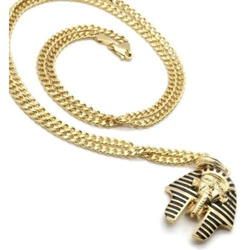 Club Giv 14k Gold Plated Pharaoh & Ankh Two Piece Bundle