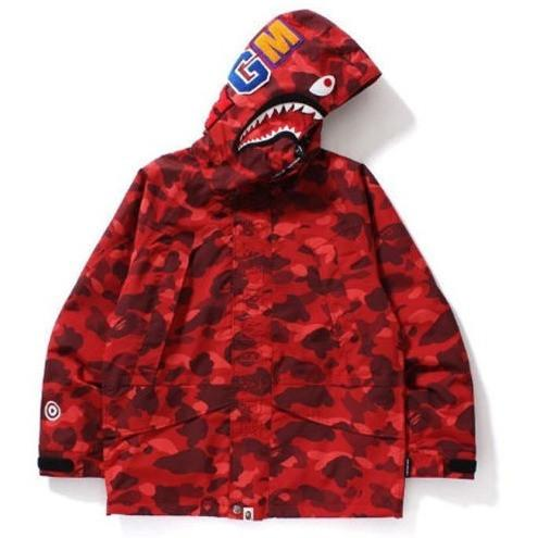 A BATHING APE Men's COLOR CAMO SHARK SNOWBOARD JACKET