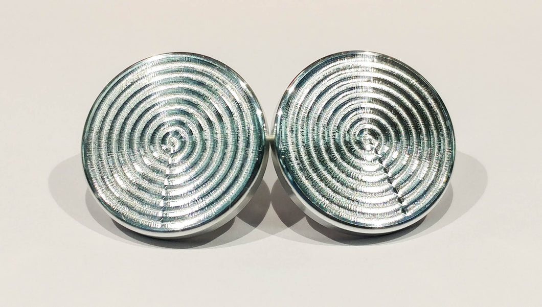 Uncoated Aluminum Fidget Spinner Bearing Cap, 1 Set