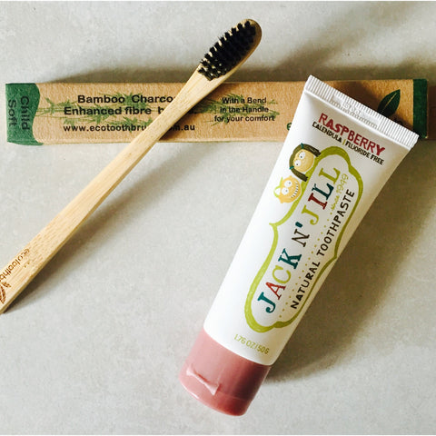 Children's Organic Toothpaste & Tooth Brush Bundle
