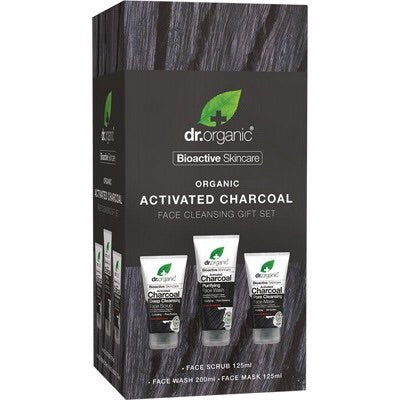 Dr Organic Charcoal Face Cleansing set