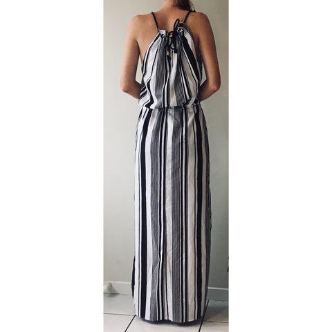 Mia Black & White Maxi Dress