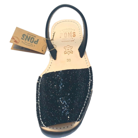 Leather BLACK GLITTER - PONS | Purity Lace Designs