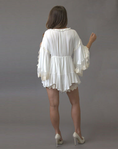 Feathers & Dreams Playsuit - Purity Lace Designs