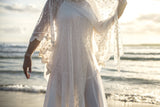FT cross over lace tunic dress pearl vintage dress pretty elegant sheer gown unique boho